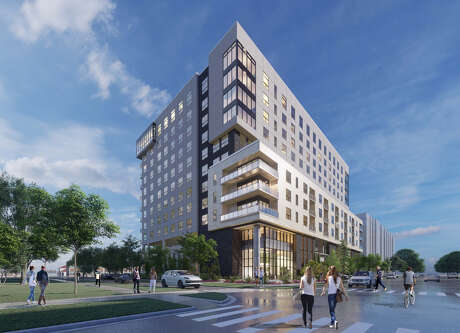 Greystar is developing this 12-story apartment building in the Heights.