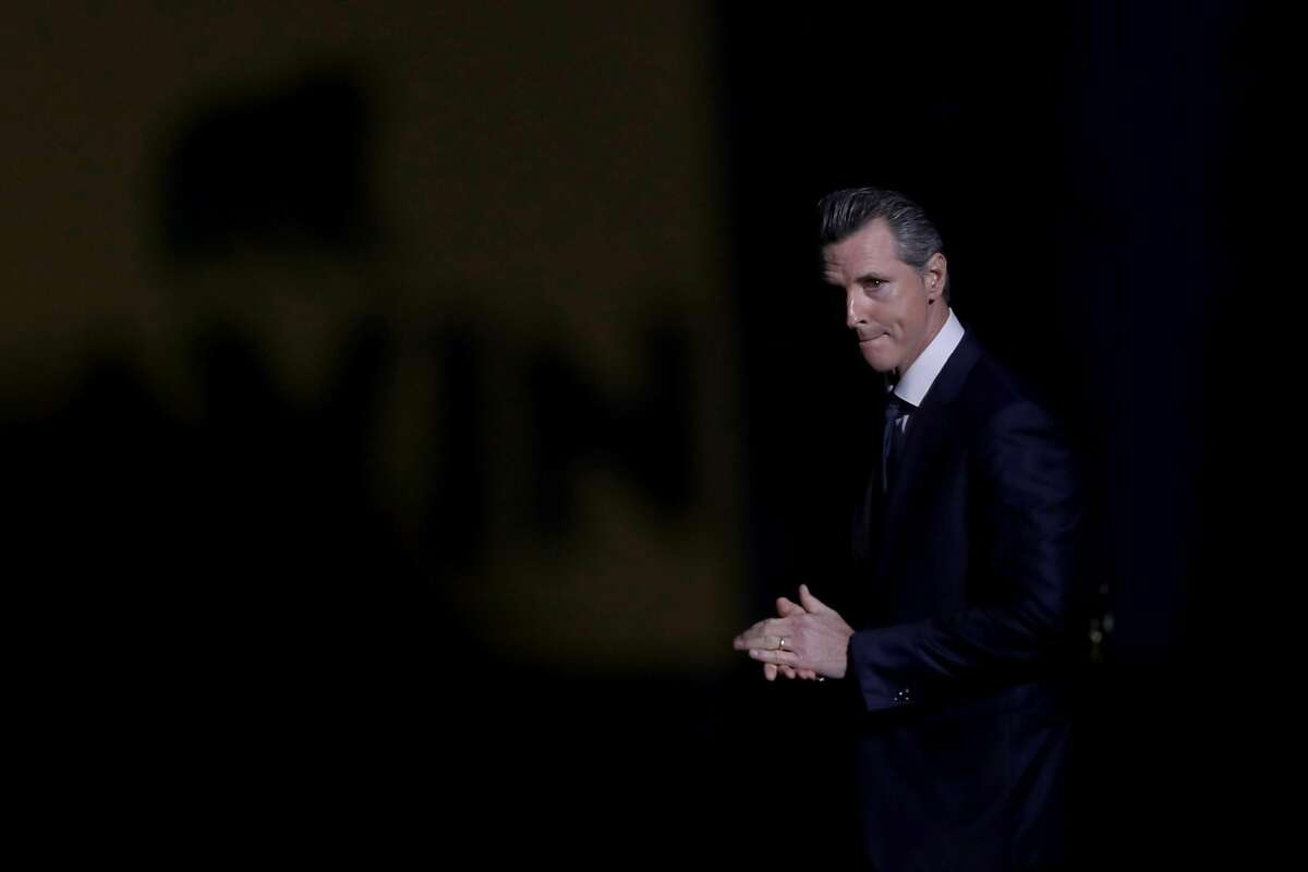 SAN FRANCISCO, CALIFORNIA - JUNE 01: California Gov. Gavin Newsom speaks during the California Democrats 2019 State Convention at the Moscone Center on June 01, 2019 in San Francisco, California. Several Democratic presidential hopefuls are speaking at th