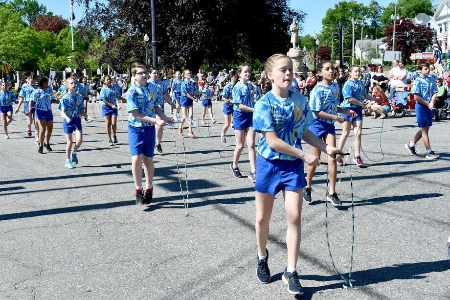 The Forbes Flyers march in Torrington's Memorial Day parade on May 27. The team is competing in a Double Dutch competiton in Tolland this month. Photo: Lara Green-Kazlauskas / For Hearst Connecticut Media