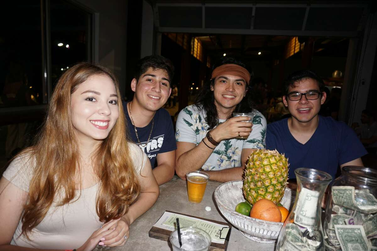Briana Cortez, Ricky Gonzalez, Chris Saldivar and Danny Gonzalez at Nido Bar