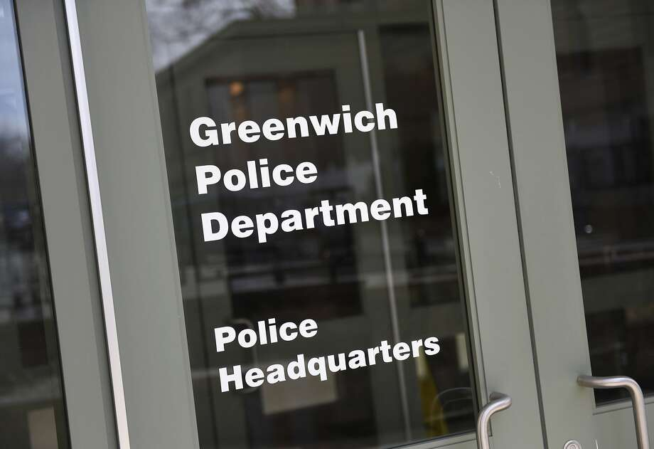 A sign indicates the Greenwich Police Department Headquarters inside the Public Safety Complex in Greenwich, Conn., photographed on Tuesday, April 2, 2019. Photo: Tyler Sizemore, Hearst Connecticut Media