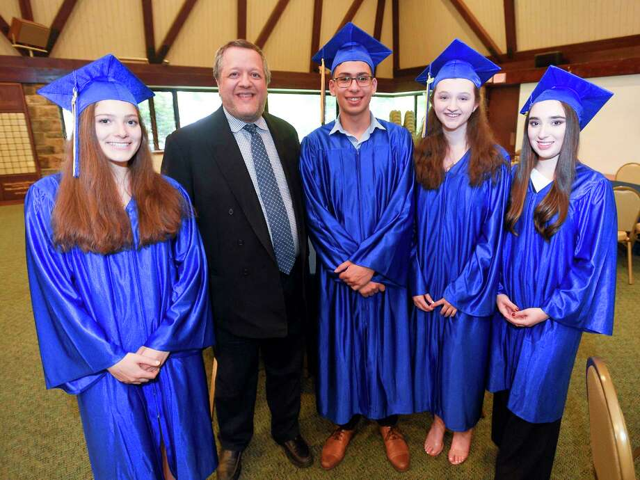 The Bi-Cultural Hebrew Academy of Connecticut Class of 2019 graduation ceremony on June 13, 2019 in Stamford, Connecticut. Photo: Matthew Brown, Hearst Connecticut Media / Stamford Advocate
