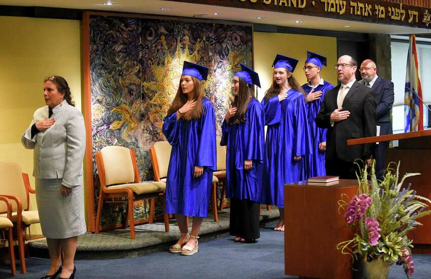 The Bi-Cultural Hebrew Academy of Connecticut Class of 2019 graduation ceremony on June 13, 2019 in Stamford, Connecticut.