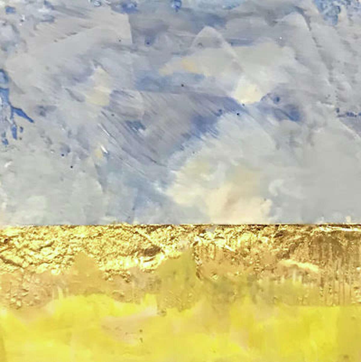 Prairie is an encaustic painting by Marian Wulffleff.