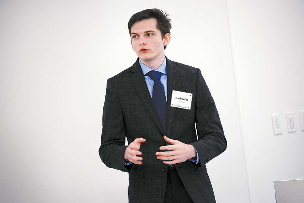 Nate Barone at the third annual College Tech Challenge on Nov. 15. -Tracy Deer-Mirek photo