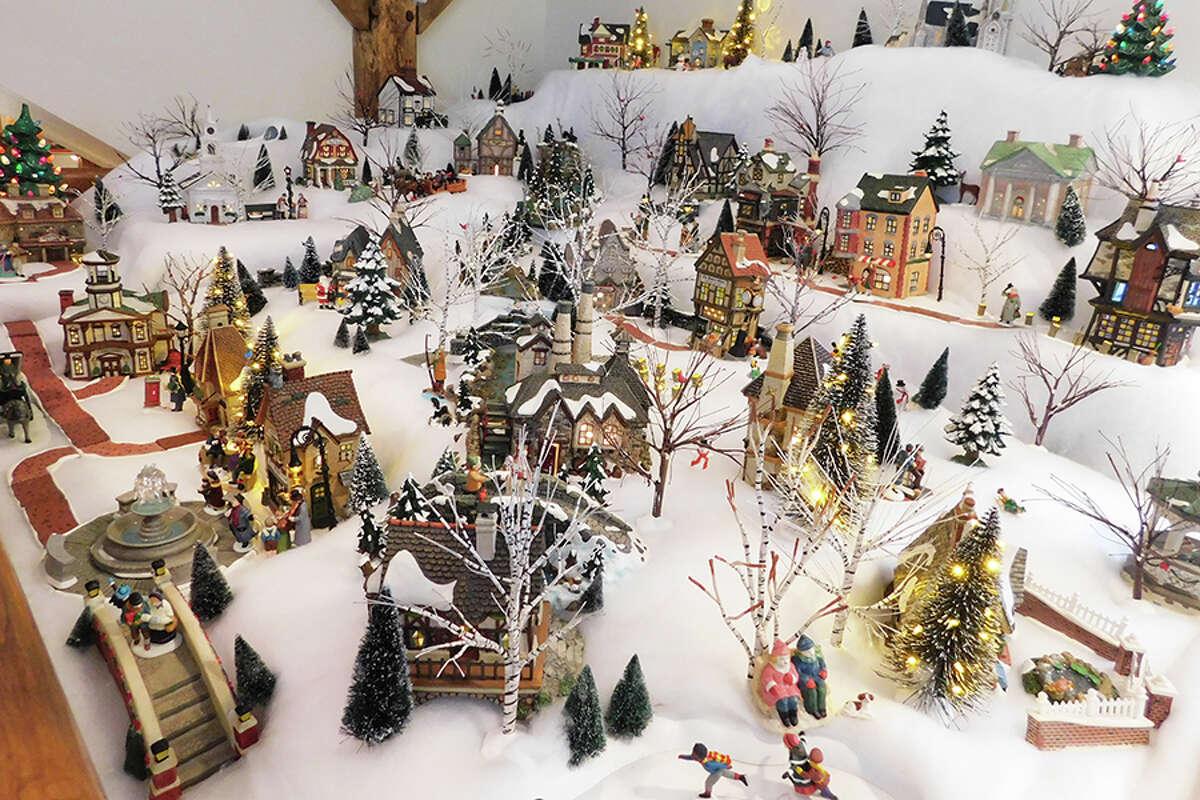 Moira Craw's Christmas village. -Kendra Baker photo