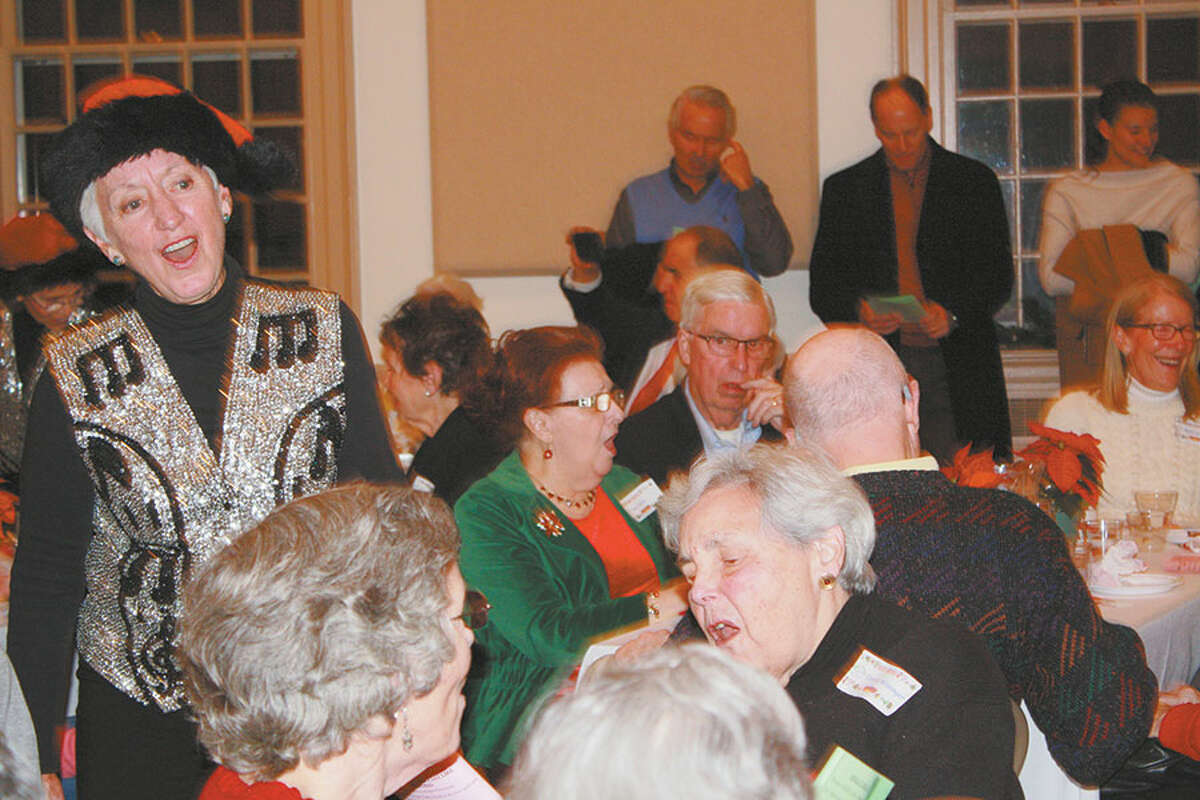 A Christmas carol sing-along was a popular part of the evening.