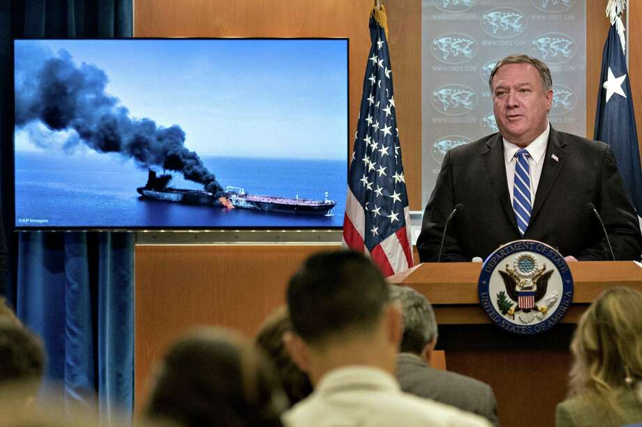 Mike Pompeo, U.S. secretary of state, speaks during a press briefing at the State Department in Washington, D.C., U.S., on Thursday, June 13, 2019. The U.S. blamed Iran for attacks on two oil tankers near the entrance to the Persian Gulf on Thursday as the incidents stoke fears that high-stakes diplomatic efforts won't avert a military confrontation between the U.S. and Iran. Photographer: Andrew Harrer/Bloomberg Photo: Andrew Harrer / © 2019 Bloomberg Finance LP