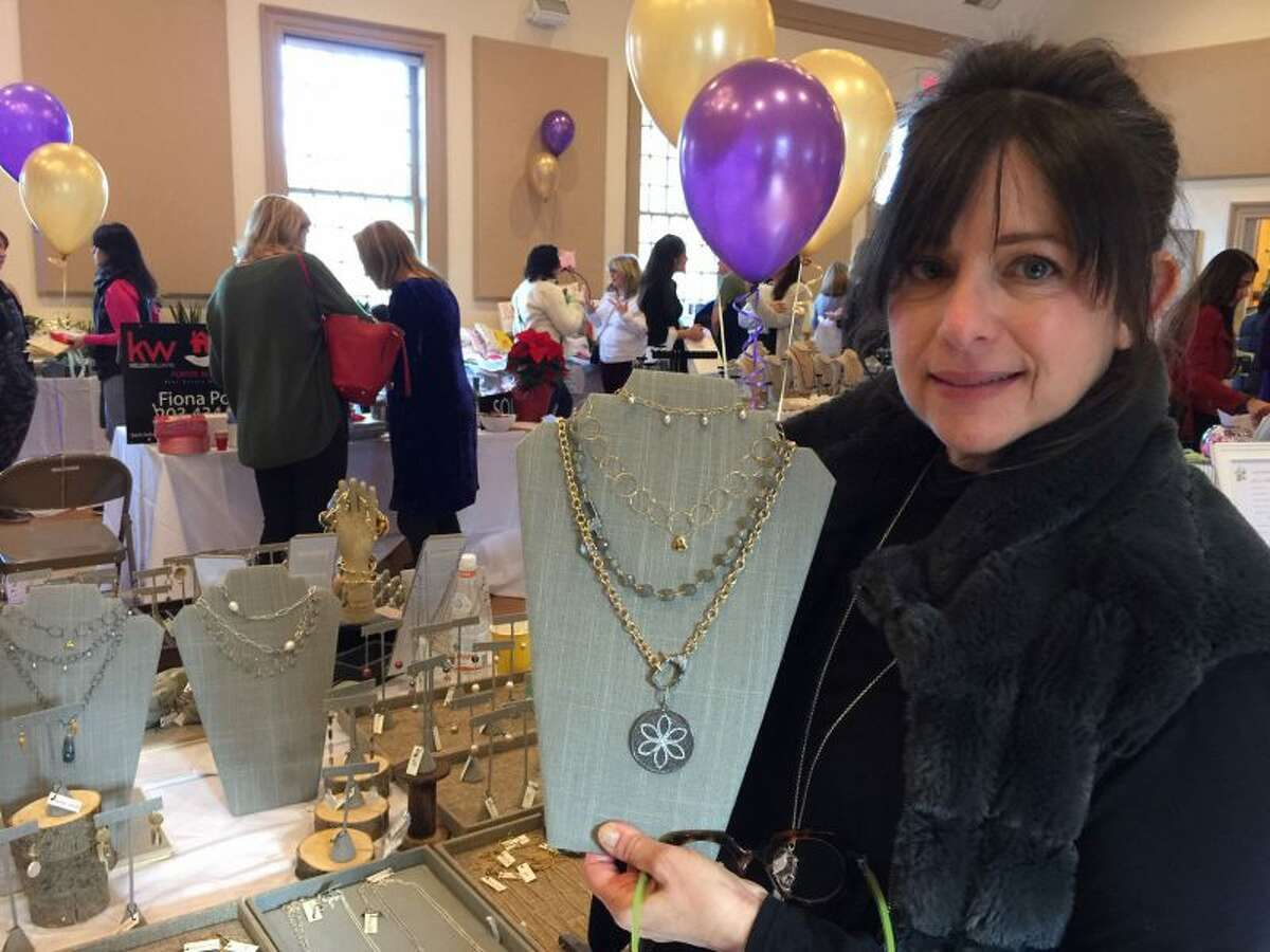 Carrie Kulawitz of The Queens Beads displayed a sparkling treasure trove. - Patricia Gay photo