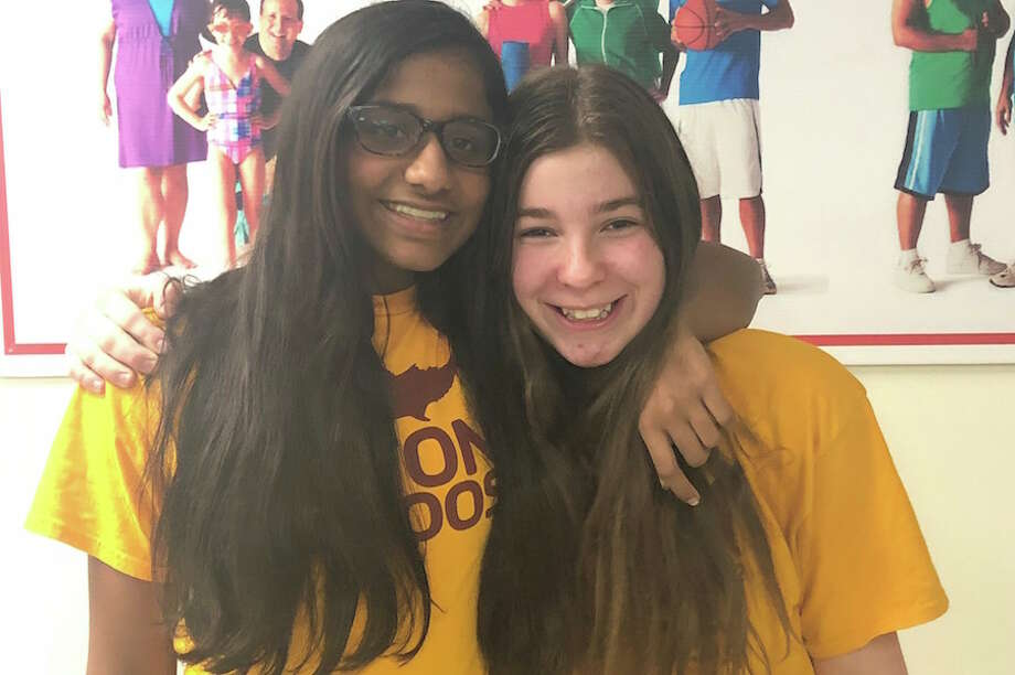 Anya Iyer and Zoe Skidell will donate their hair to benefit cancer patients.