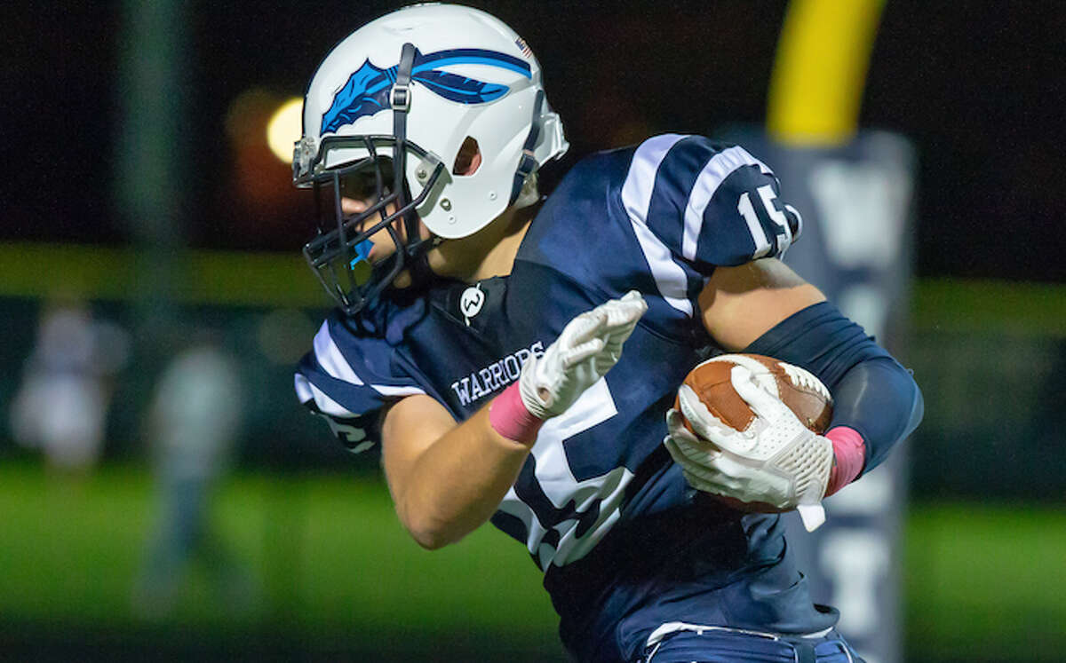 Reilly Bingaman (shown earlier this season) had a touchdown and an interception as Wilton defeated Westhill. - GretchenMcMahonPhotography.com