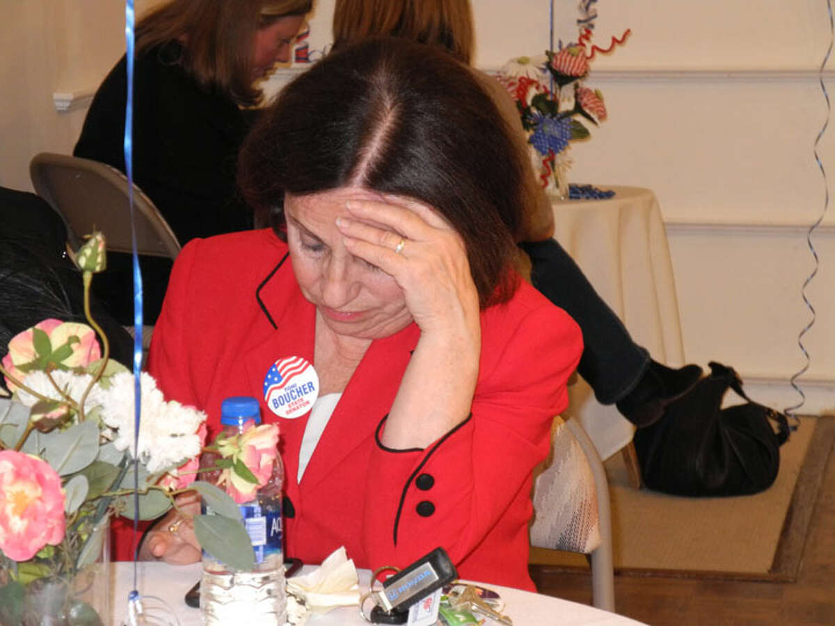 Toni Boucher mulls over the election results. - Jeannette Ross photo