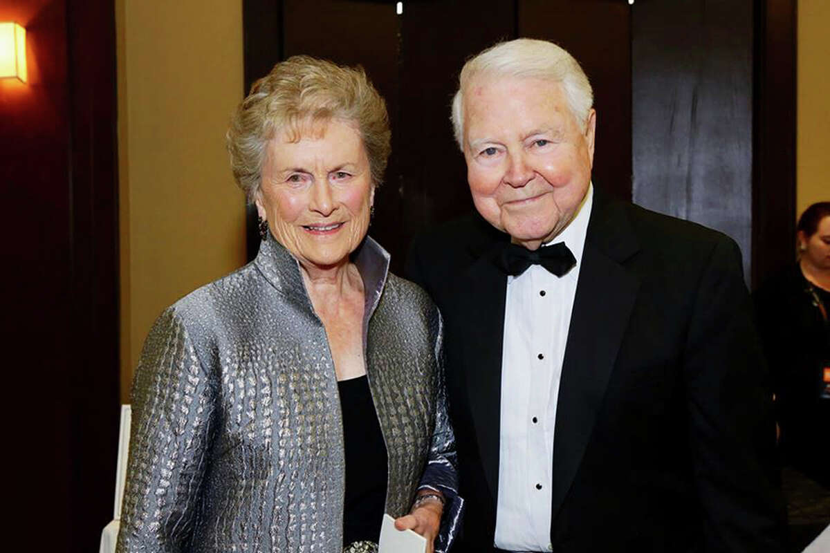 Carol Bauer and her husband George at the 125th Anniversary Gala for Norwalk Hospital where she was the recipient of the inaugural Founders' Award.