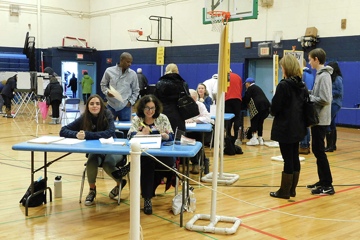 Election Day voting at Middlebrook School. - Kendra Baker photo
