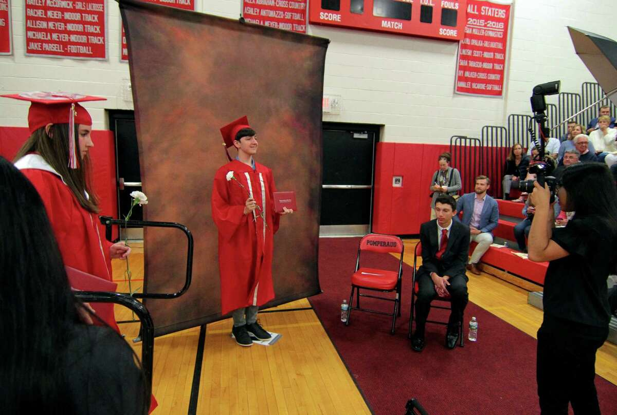 Pomperaug High School's Commencement Ceremony in Southbury, Conn., on Thursday June 13, 2019.
