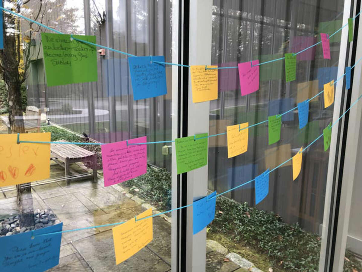 Members of the Wilton Presbyterian Church wrote letters of support to members of Temple B'nai Chaim in light of the Pittsburgh shooting tragedy. - Contributed photo