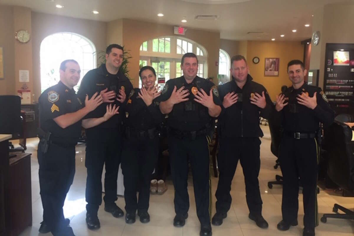 Wilton police officers had their nails painted purple last year in a show of support for victims of domestic violence. The department's work in this area was cited by the state American Legion in naming Wilton its Police Department of the Year.