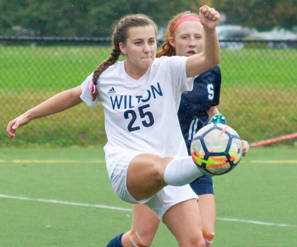 Libby Connolly and the Wilton High girls soccer team have shut out their last four opponents. - GretchenMcMahonPhotography.com