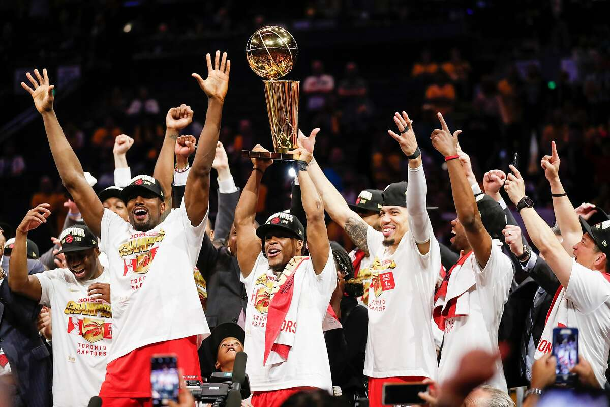 The Toronto Raptors celebrated their lone NBA championship in June 2019 in Oakland.