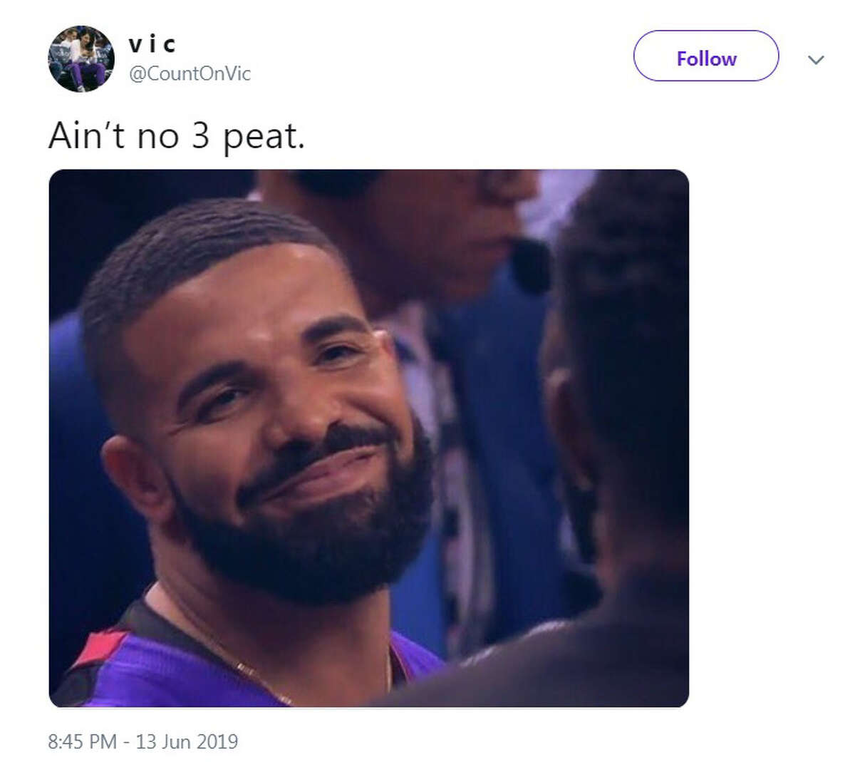 The best Twitter reactions to the Raptors winning the NBA title after beating the Golden State Warriors in Game 6 on Thursday night in Oakland.