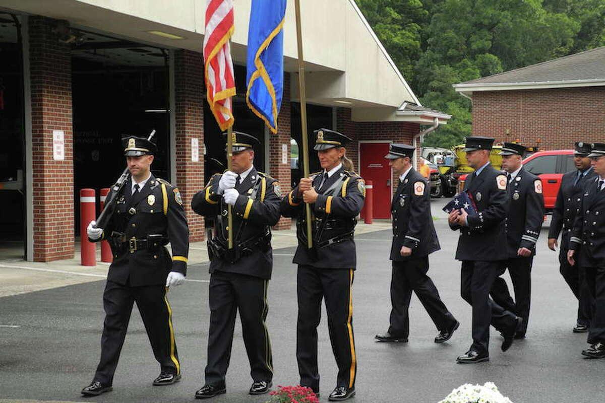 Wilton police honor guard.