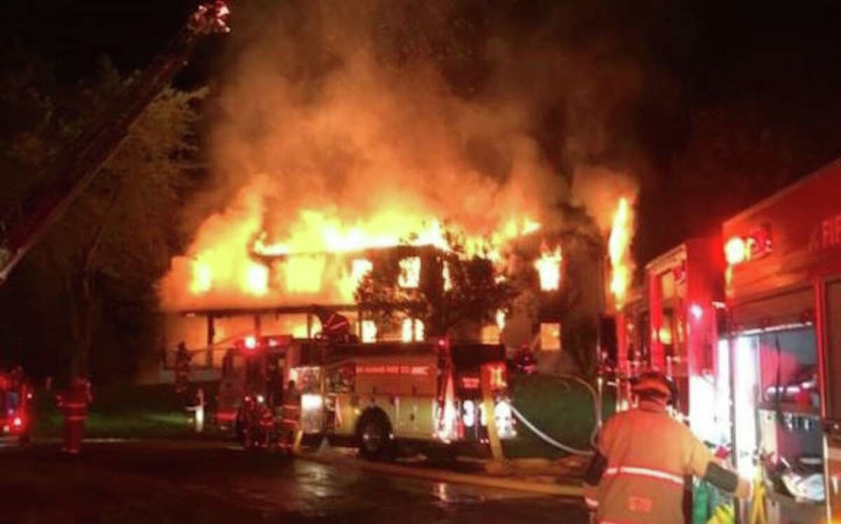 Photo of the fire from the Oxford Fire Rescue Facebook page.