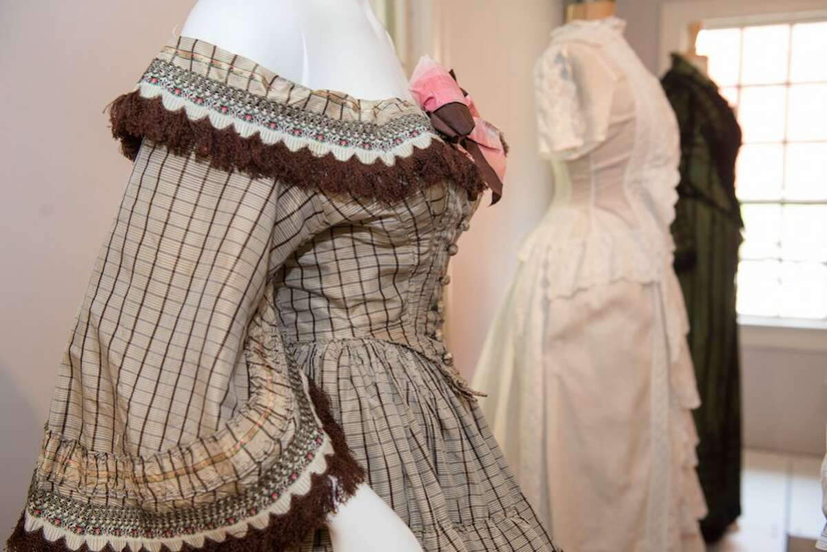 A sampling of women's special occasion dresses from 1850 to the 1960s will go on display at Wilton Historical Society starting Saturday, Aug. 25.