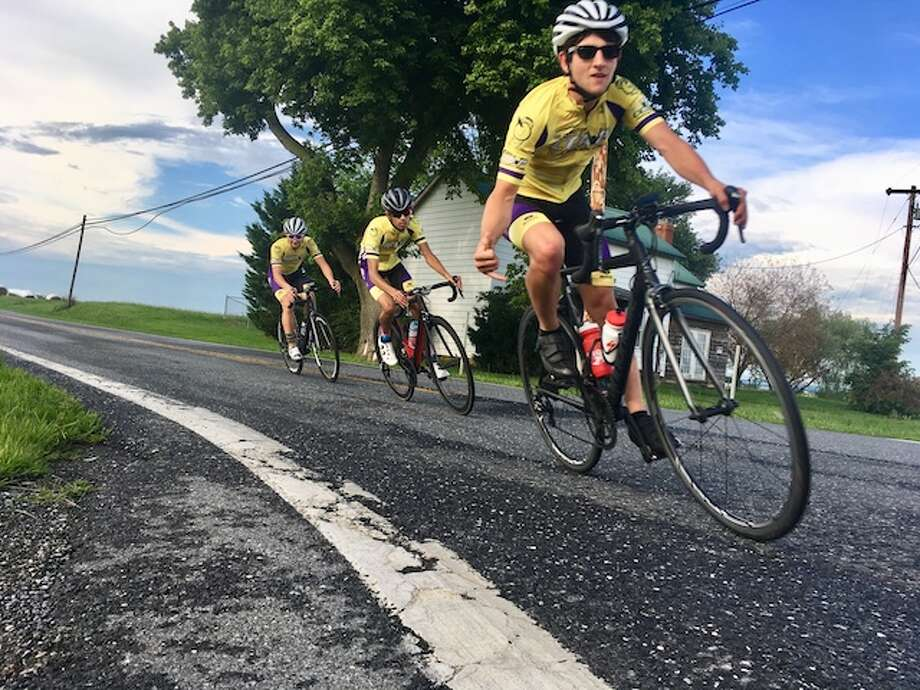 Nick Koleszar competed in two prestigious cycling events last month, including the Tour de L'Abitibi in Quebec.