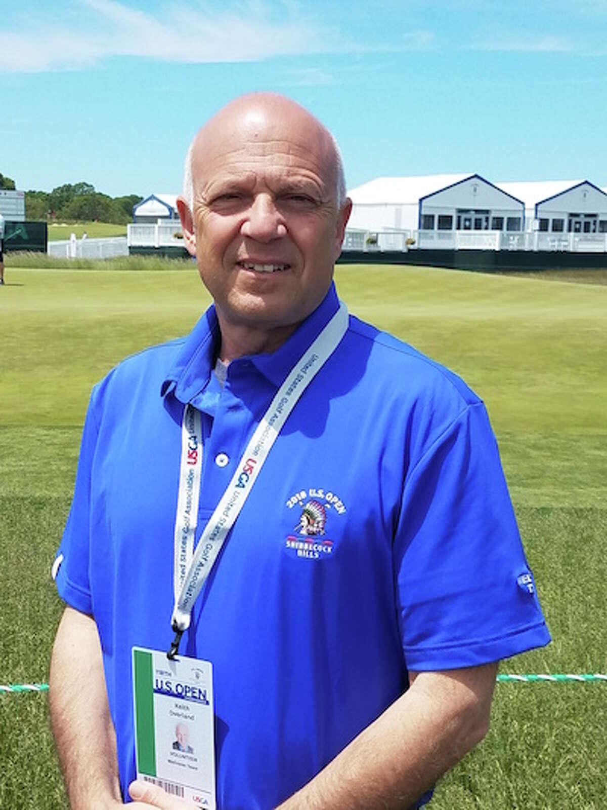 Dr. Keith Overland spent two days at the Shinnecock Hills golf course offering chiropractic services to players during the U.S. Open. - Contributed photo
