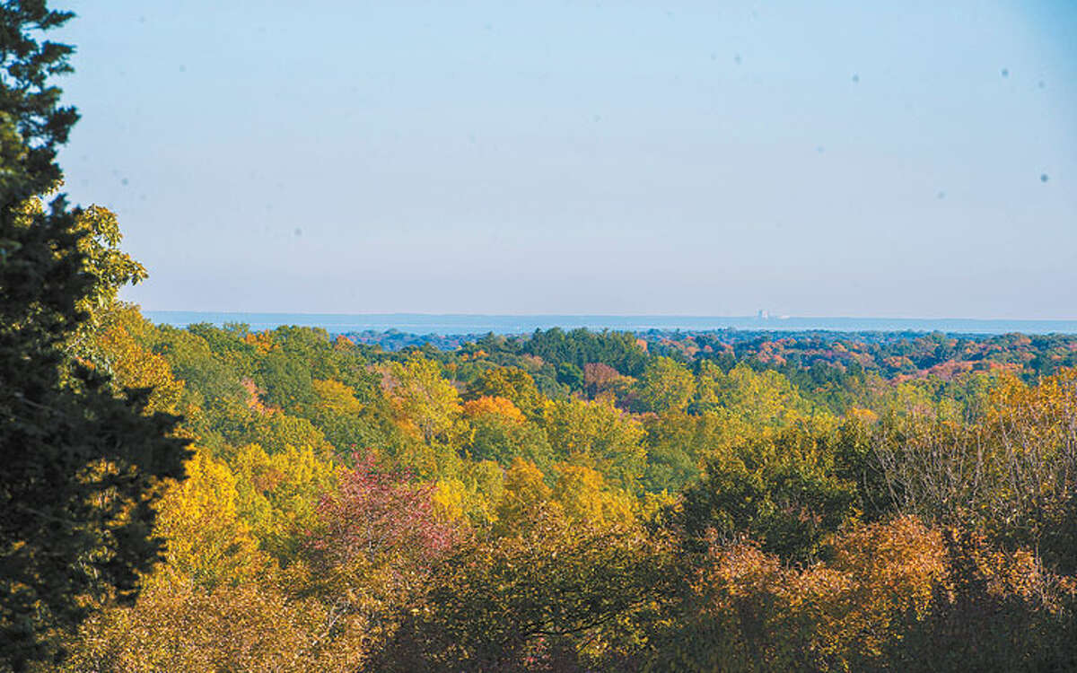 Long Island Sound may be seen in the distance from a vantage point in Quarry Head park. - Bryan Haeffele photo