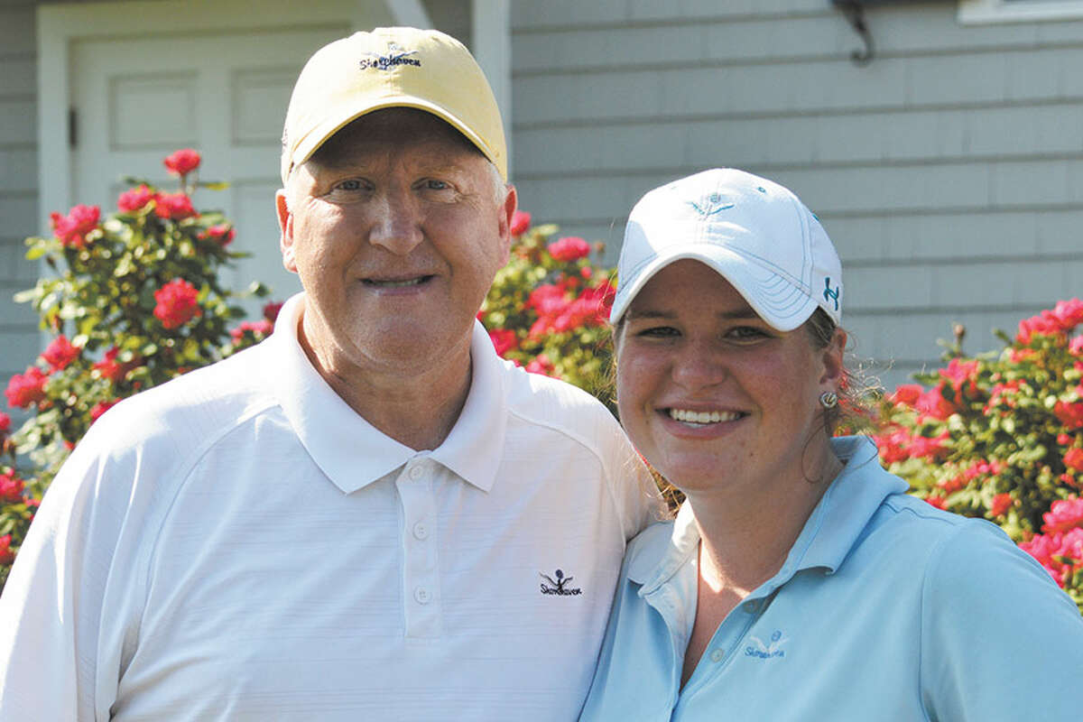 NoraNoel Nolan and her father, Gerard, at the Connecticut Women's Open Championship.