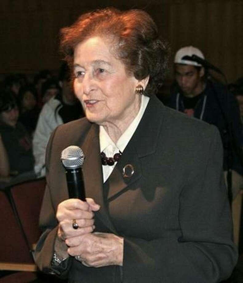 Holocaust survivor Judith Altmann will speak at Middlebrook School tonight.