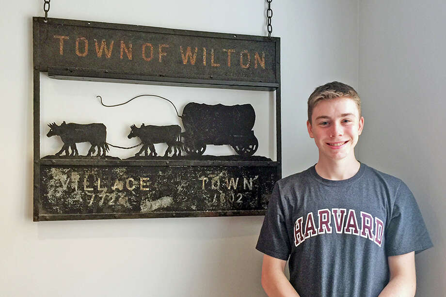 Wilton High School senior Michael Wallace is this year's recipient of the Wilton Historical Society's Walter R.T. Smith Memorial Scholarship. — Contributed photo