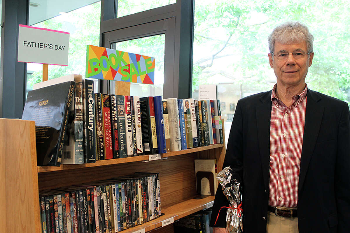 Christopher 'Kit' Smith was named Wilton Library's Volunteer of the Year. - Janet Crystal photo
