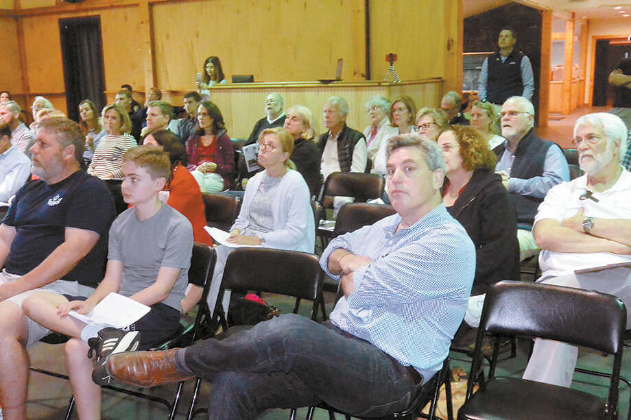 Some of the crowd of 50 people who attended the public information session at the Trackside Teen Center. –Tony Spinelli photo