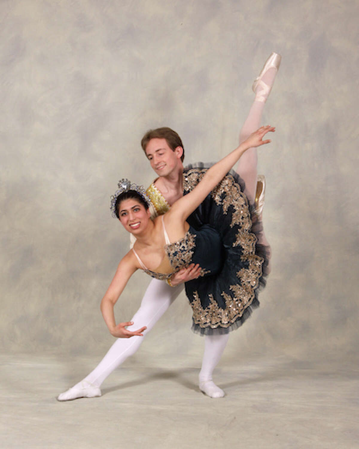 Wilton High School student Dilshad Dinshaw dances with Brian Froehlich.