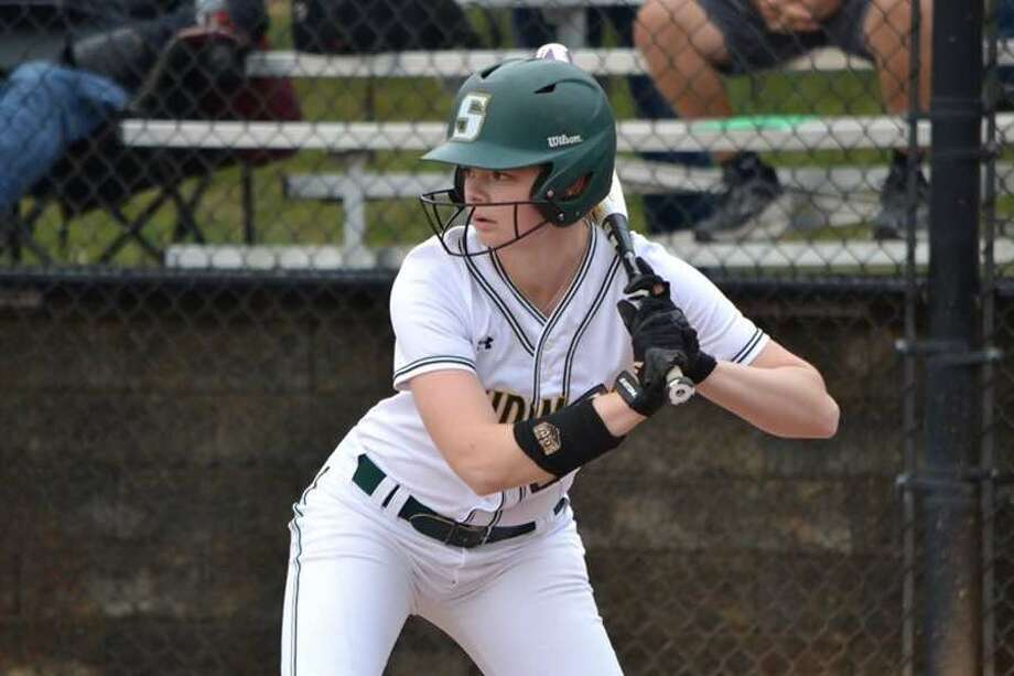 Lizette Roman-Johnston ended a tremendous career with the Skidmore College softball team by being named to the National Fastpitch Coaches Association (NFCA) All-Northeast Region First Team. — Skidmore Athletics photo