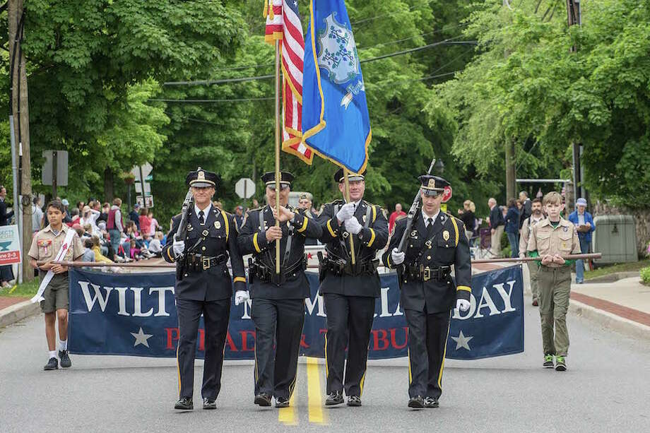 The Wilton Police Honor Guard. / BryanHaeffele