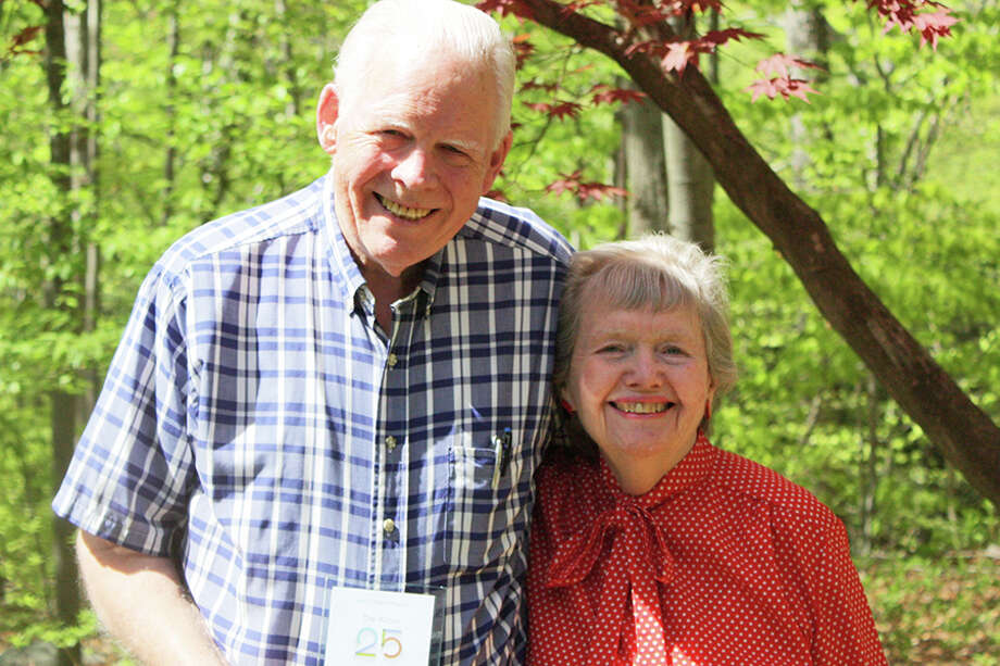 Co-founders Anne and Phil Richards at the anniversary party. — Debbie McClelland photo
