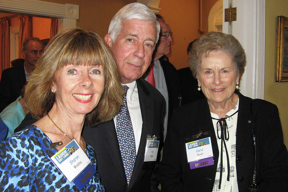 Agency president and CEO, Sharon Bradley joins Wilton residents Hal Higby and Carol Bauer.