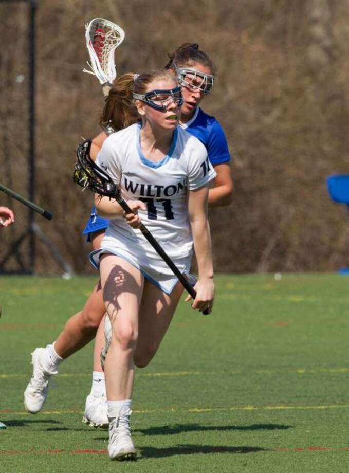 Olivia Gladstein and the Wilton girls lacrosse team will host Fairfield Warde on Friday in the FCIAC quarterfinals. — GretchenMcMahonPhotography.com