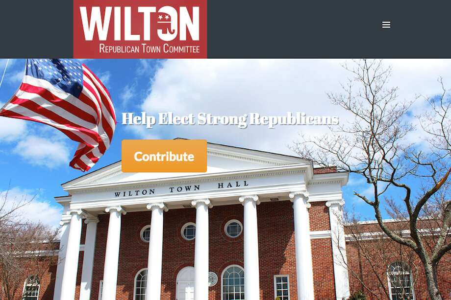 The homepage of the new Wilton Republican Town Committee website.