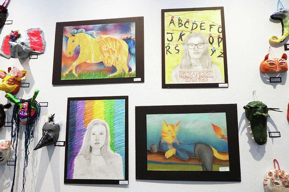 Artwork by Wilton High Schools students.