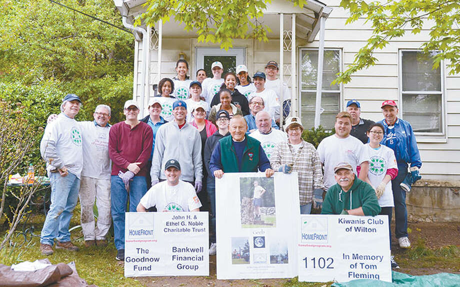 Wilton Kiwanis Club volunteers at last year's HomeFront home repair project.