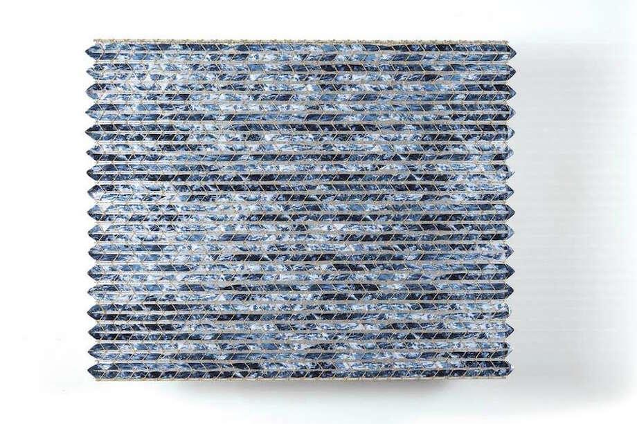 Rough Sea of Sado by Keiji Nio is part of the Blue/Green: color/code/context exhibition at browngrotta arts.