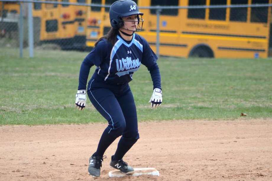 Hannah Lifrieri had two hits, including a double, and two RBI in the Wilton softball team's win over Fairfield Warde on Monday. — J.B. Cozens photo