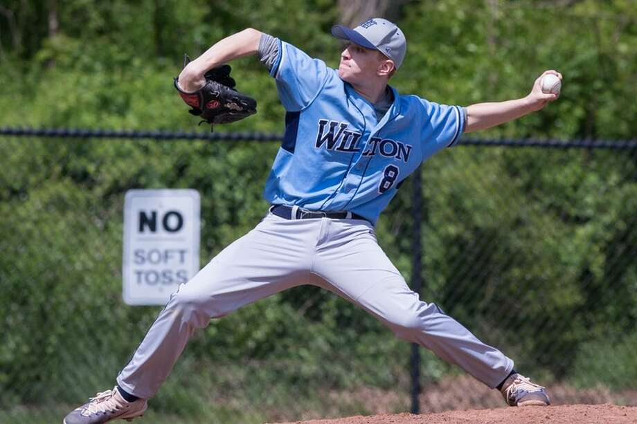 Ryan Gabriele, coming off a 5-0 season, will anchor the Wilton High baseball team's pitching staff. — GretchenMcMahonPhotography.com