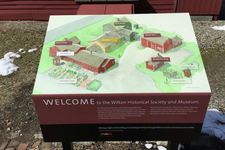 A sitemap helps visitors make the most of their visit to the Wilton Historical Society.