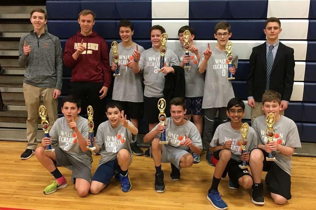 Team Johnson won the championship in the Wilton recreation basketball fifth and sixth boys division. The team featured Mac McGovern, Michael Fischetti, Griffin Casey, Adam Raniolo, Jude Gouveia, Or Eisdorfer, Elliot Stalls, Arhan Yadav and Sacha Lyons.
