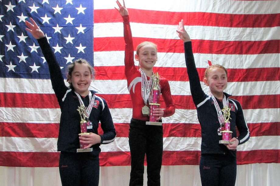 Ashley Umhoefer of Weston, a member of the Wilton Y gymnastics team, was the Level 6 all-around champ at the state Southern League championships earlier this month in Wilton.